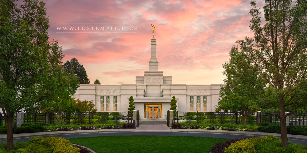 Spokane Temple Sunrise Glow Print