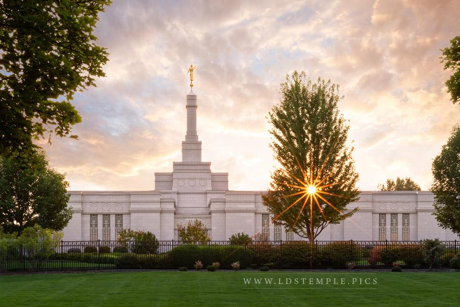 Spokane Temple Sunstar Print