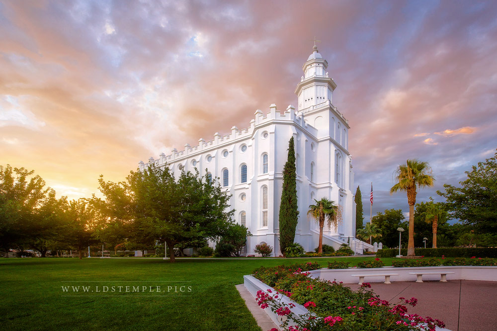 St. George Temple Summer Sunset Print