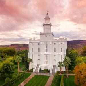 st-george-temple-aerial-sunset