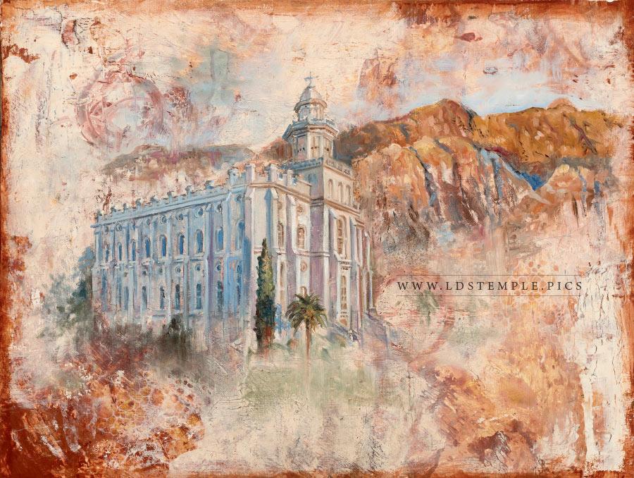 George George Utah LDS Temple St St Temple Watercolor LDS Temple LDS Art Utah Utah Art