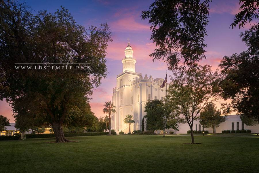 St George Temple Enlightenment Print