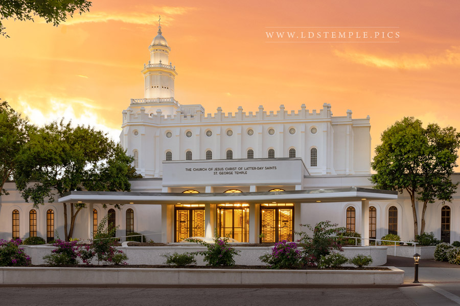 St. George Temple Morning Dew From Heaven Print