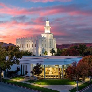 st-george-temple-visitors-center-sunset