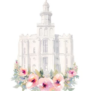 st-george-temple-watercolor-painting
