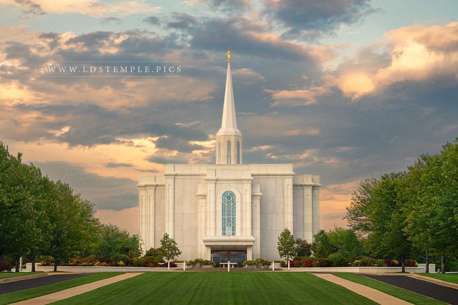 St. Louis Temple Sunset Skies Print