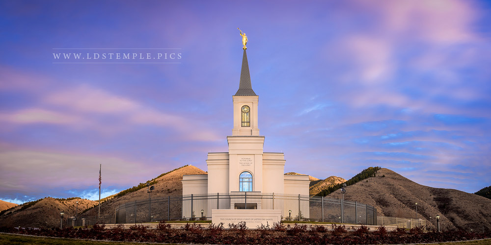 Star Valley Temple Fading Light Print