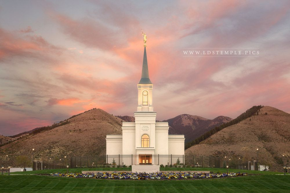 Star Valley Temple Fading Sunset Print