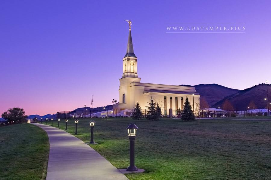 Star Valley Temple Joined with Heaven Print