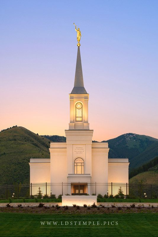 Star Valley Temple Morning Glow Print
