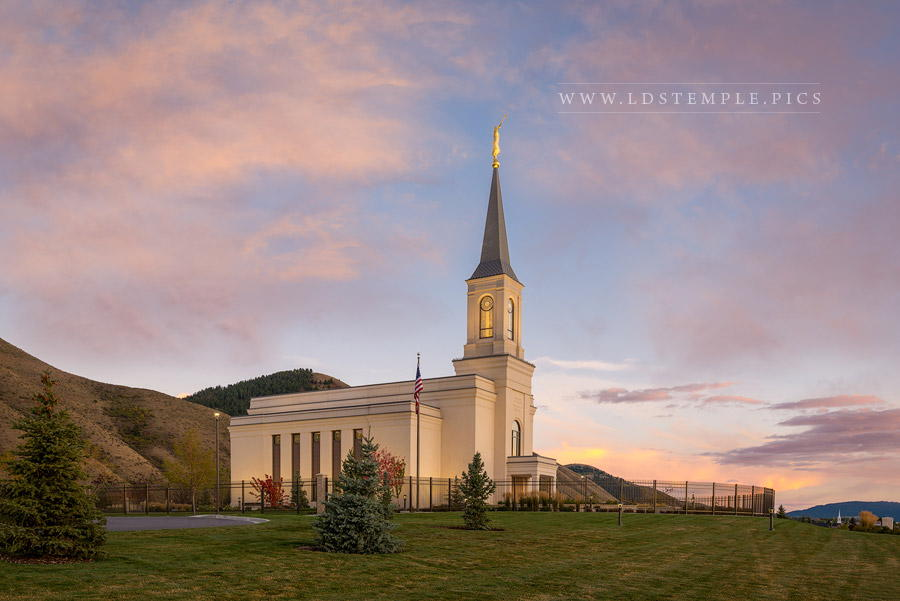 Star Valley Temple Peaceful Evening Print