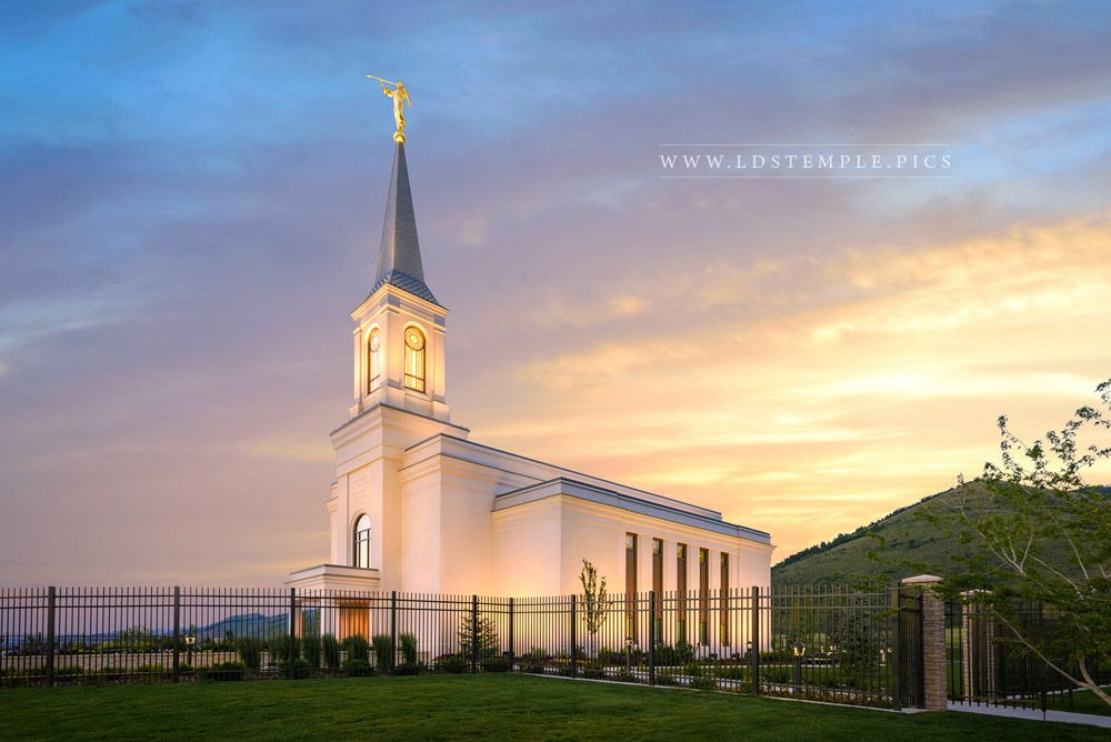 Star Valley Temple Summer Sunrise Print