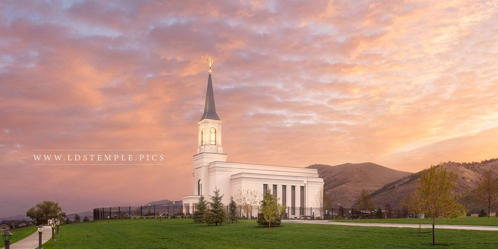 Star Valley Temple Sunrise Glow Print