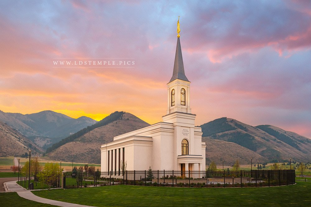 Star Valley Temple Sunrise Print