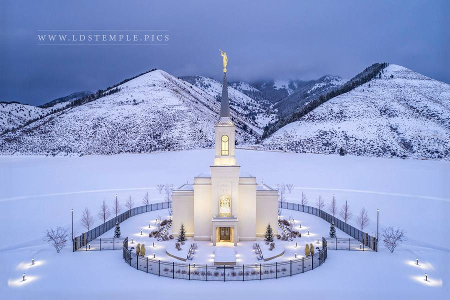 #9 — Star Valley Temple – Winter Aerial