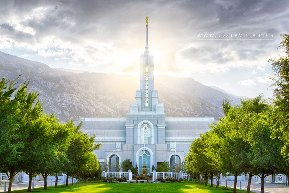 Mount Timpanogos Temple Morning Sun Print