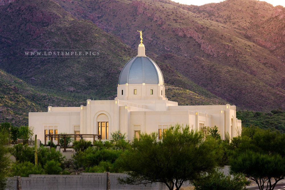 Tucson Temple And Ye Shall Have Peace Print