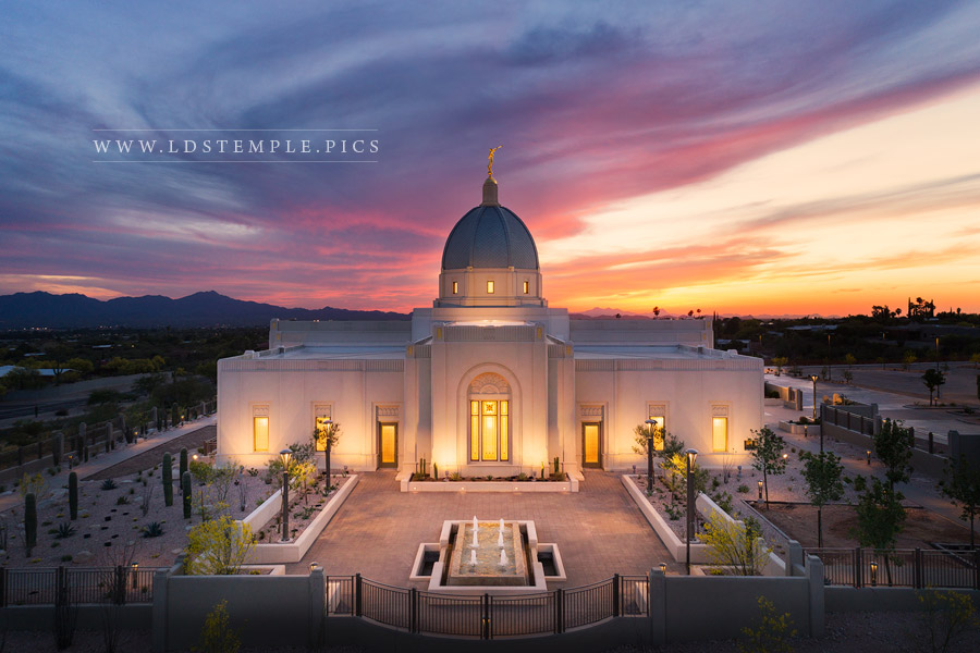 Tucson Temple From On High Print