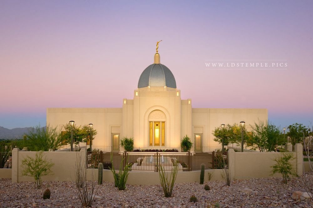 Tucson Temple Golden Glow Print