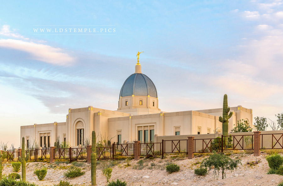 Tucson Temple Peaceful Morning Print