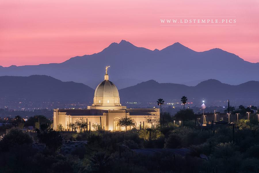 Tucson Temple Purple Mountain Majesty Print