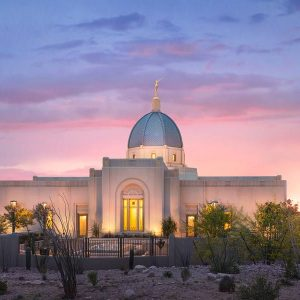 tucson-temple-spring-sunset