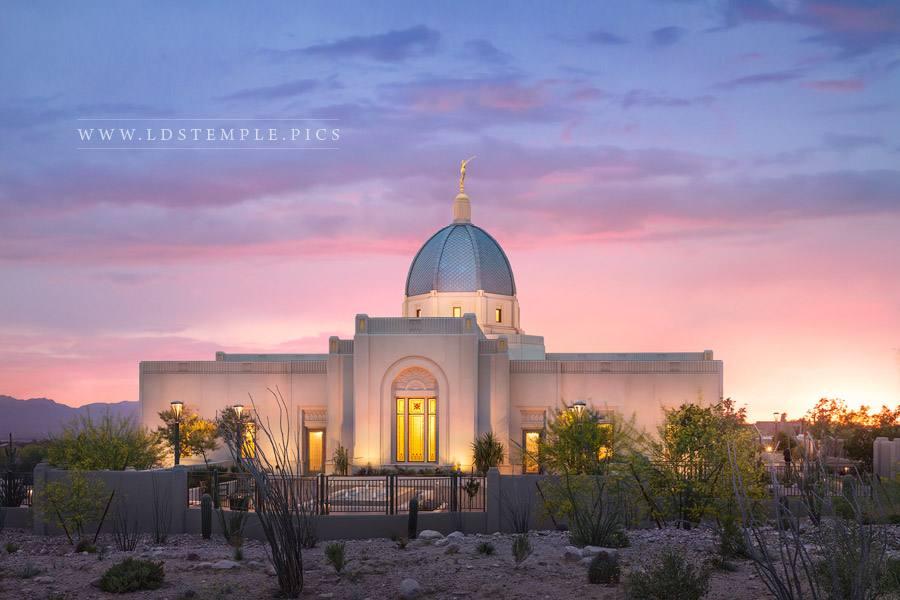 Tucson Temple Spring Sunset Print