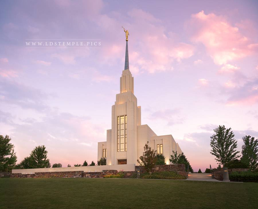 Twin Falls Temple Daybreak Print