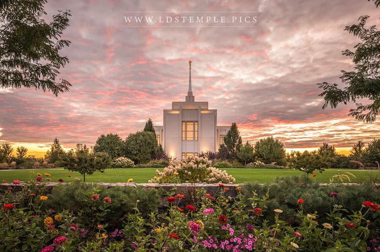 Twin Falls Temple Eternal Paradise Print