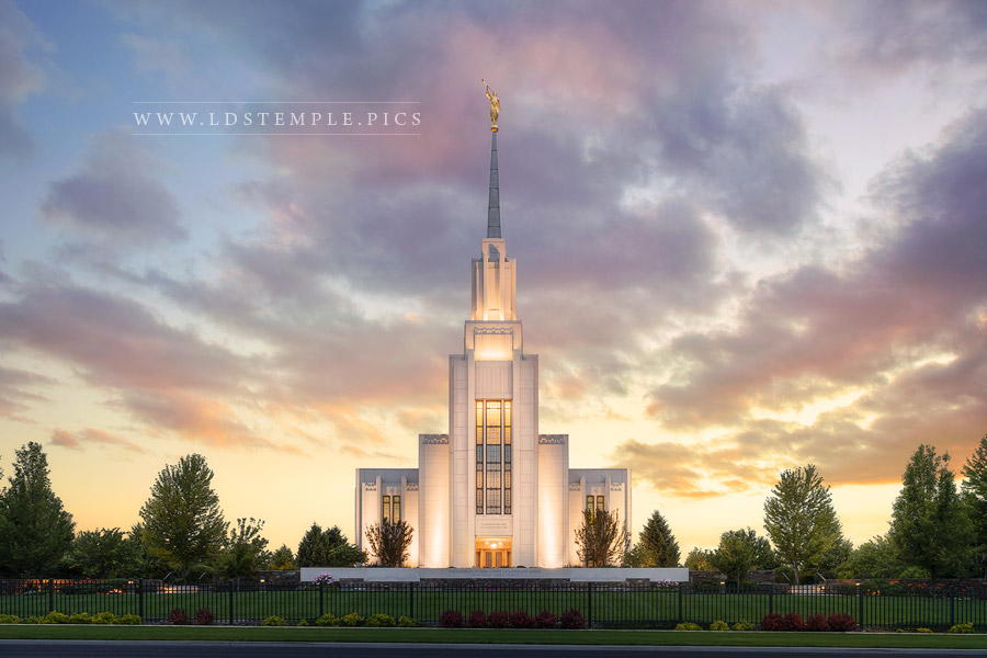 Twin Falls Temple Glory to the Highest Print