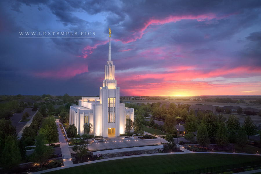 Twin Falls Temple Heavenly Light Print