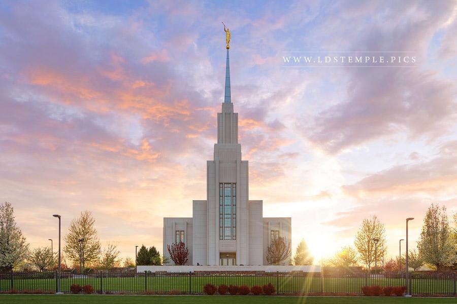 Twin Falls Temple Jubilant Sunset Print