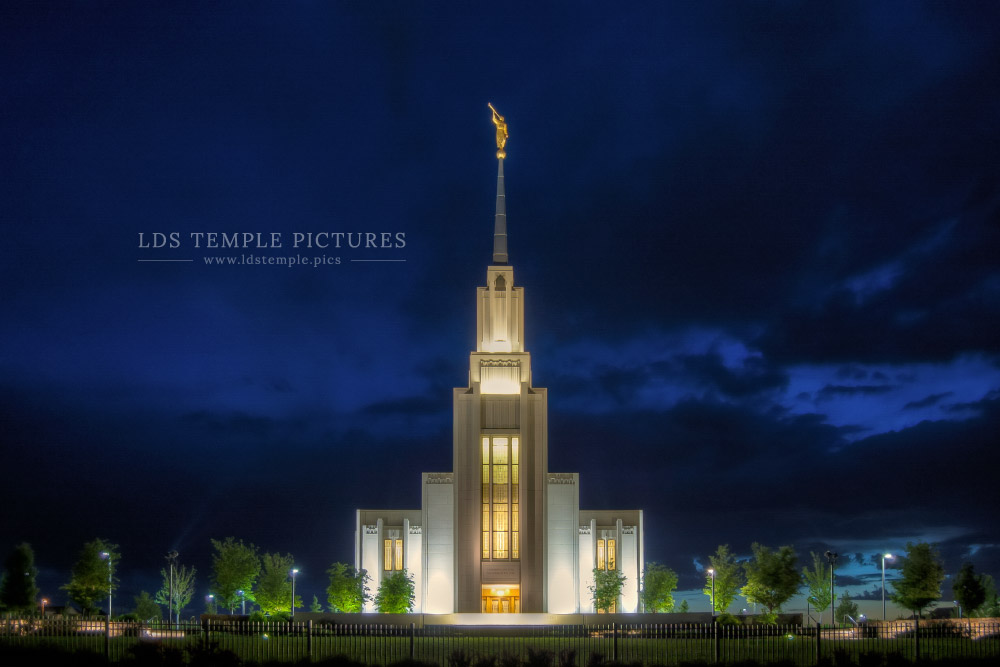 Twin Falls Temple Standing As A Beacon Print