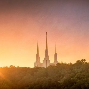 washington-dc-temple-sunset-glow