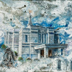 winter-quarters-temple-cold-wax-oil-painting