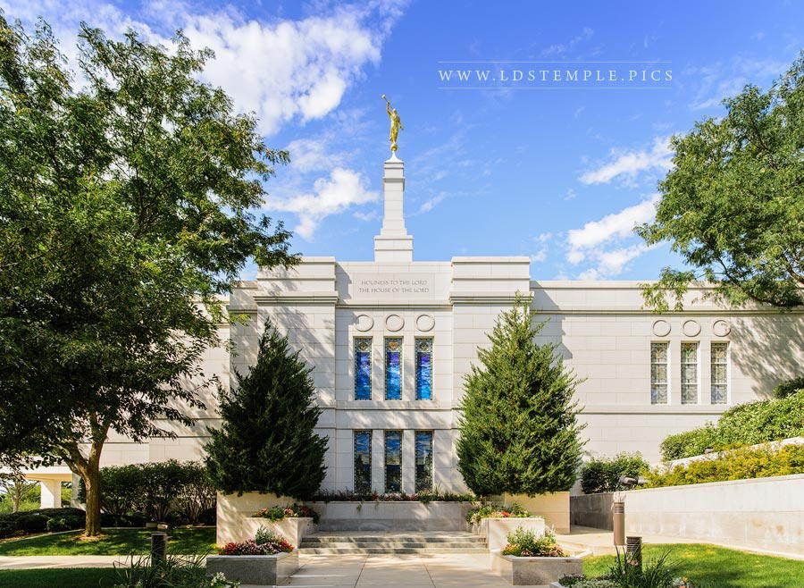 Winter Quarters Temple Summer Light Print